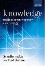 Knowledge: Readings in Contemporary Epistemology by