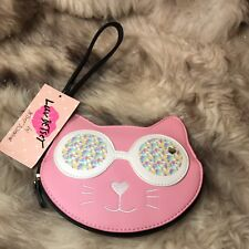 NWT Betsey Johnson Confetti Cat Wristlet - MSRP $38.00