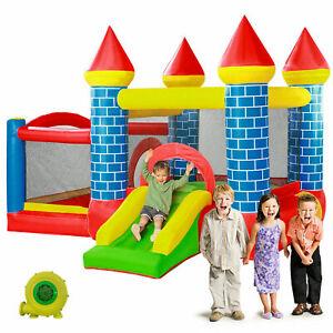 Inflatable Bounce House Castle Kids Jumper Slide Bouncer Basketball Hoop Blower