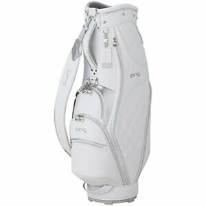 PING Golf Ladies Caddy Bag Shoes in Pocket 8.5 x 47 inch 2.9kg White CB-L211