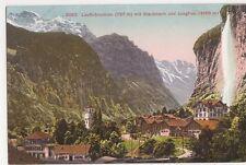 Switzerland, Lauterbrunnen mit Staubbach und Jungfrau Postcard, B267