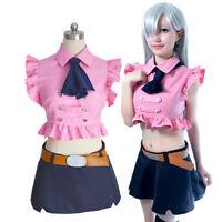 Anime The Seven Deadly Sins Elizabeth Liones Cosplay Set costume Japanese Skirt