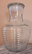 Anchor Hocking Ribbed Beehive Juice Jar with Lid NO RESERVE!!!!!