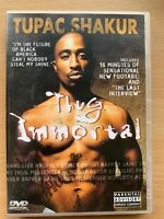 Thug Immortal DVD 2pac Tupac Shakur Rap Hip Hop Music Biographical Documentary