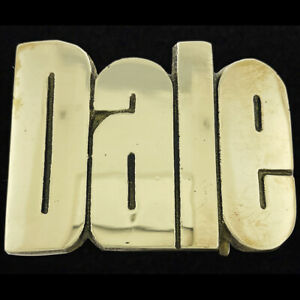 Dale Name Retro Hippie Western Brass 1970s NOS Vintage Belt Buckle New 1978 new