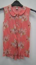 Coral Sleeveless  Floral Collared Top from Tu age10 years