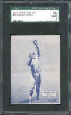 1934-36 Batter-Up BUDDY MYER #19 SGC 4 VG-EX Vintage Baseball Card