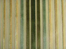 ZOFFANY CURTAIN/UPHOLSTERY FABRIC DESIGN Rossini 3.5 METRES CUT VELVET GREEN/GOL