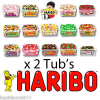 2 TUBS HARIBO SWEETS GIRLS BOYS HEN NIGHT WEDDING PARTY BAGS FILLERS CANDY BOX