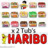 2 FULL TUBS OF HARIBO SWEETS HAMPER DISCOUNT FAVOURS TREATS PARTY CANDY KIDS