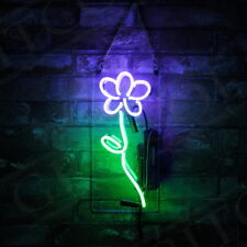 Purple Flower Display Decor Neon Sign Bistro Pub Game Room Boutique Hand Craft