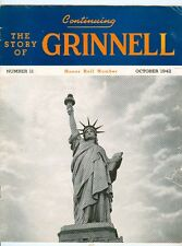 GRINNELL #11 Patriotic Cover,Providence RI Print Shop Oct.1942 Honor Roll Issue