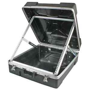 "Pulse ABS-12U 19"" 12U ABS Rack Flight Case for 12U Mixers | Foldable, Lockable"
