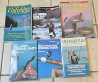 Lot 6 Fishing Books Fly Tying Flyfishing Salt Flies How to Rig Baits Rods