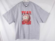 FEAR Is Not An Option T-Shirt Baseball with Embossed Threads - Size XL