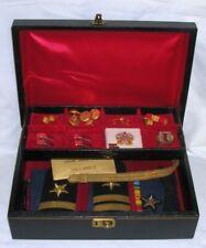 Vintage 1960s Filled Navy Lieutenant Valet Box Sterling Bars Medals etc.