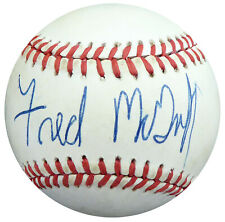 Fred McGriff Autographed Signed AL Baseball Blue Jays, Padres Beckett S78870