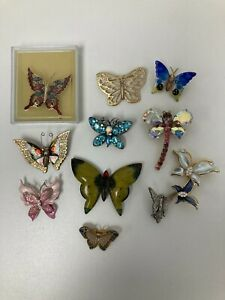 Butterfly Insect Brooch Pin Costume Bundle 11 Pieces P422 E68