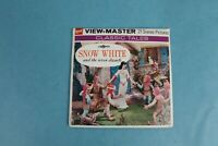 VINTAGE VIEW-MASTER 3D REEL PACKET B300 DISNEY SNOW WHITE COMPLETE