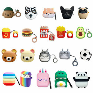3D Animals Unicorn Silicone Soft Earphone Case Cover For Apple Airpods 1 2 Pro