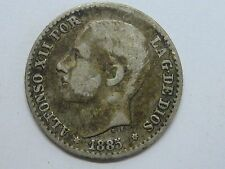1885 ALFONSO XII 50 CENT CENTIMOS SPANISH SPAIN