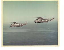Sikorsky SH3 Sea King HS10 Navy Helicopter Photograph 8x10 Color