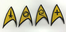 "Star Trek Classic Uniform  Insignia 3"" Embroidered Patch Set of 4- Iron On"