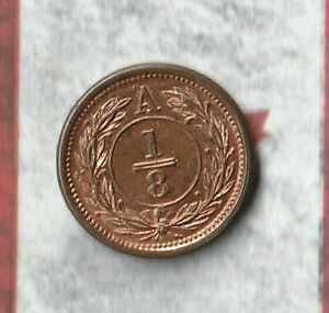 1870 Anticosti Island 1/8 Cent- Paris Mint-  Ultra rare Canadian Token