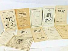 Stamp Catalogs Lot of 11 1940s Vintage