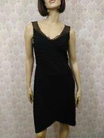 Joseph Ribkoff Couture Black Sleeveless Cocktail Dress Womens 10 Sheath