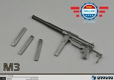 1/6 Scale M3 Submachine Gun World War II US Army Toys Weapon Models for 12''