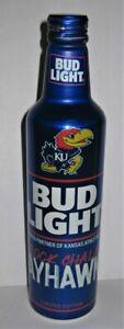 Bud Light 16 oz Aluminum Beer Bottle 2021 NCAA KANSAS JAYHAWKS #503837