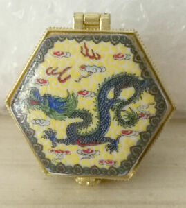 Jewelry box painted ancient Chinese flying dragon price for one piece don't  方式