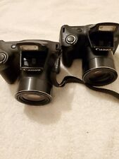LOT OF 2 Canon PowerShot SX410 IS20.0MP Digital Camera Black/PARTS OR REPAIR.