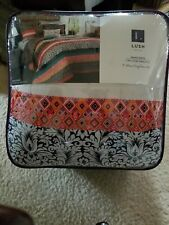 Lush Decor King Boho Stripe 7-Piece Comforter Set