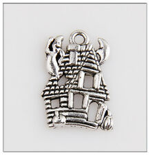 12 Haunted House Tibetan Silver Charms Pendants Jewelry Making Findings HN187