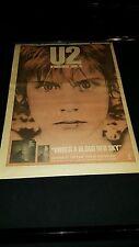 U2 Under A Blood Red Sky Rare Original U.K. Promo Poster Ad Framed!