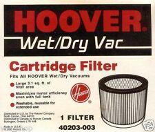 40203003 Genuine Hoover Wet Dry Vacuum Cleaner Cartridge Filter 43611007