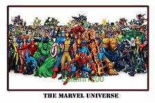 MARVEL UNIVERSE - AWESOME COMIC POSTER PRINT PHOTO - LOOKS GREAT FRAMED