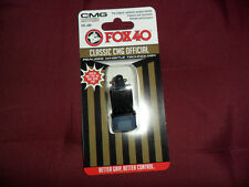 FISCHIETTO ARBITRO FISCHIO FOX 40 CMG ORIGINAL FOX40 NERO REFREE WHISTLE AIA
