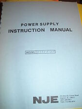 NJE E series power supplies instruction manual used