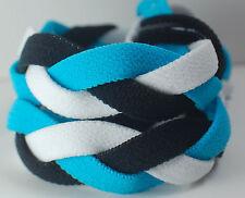 Light Blue Black White Braided Hair Band Head Under Headband Armour Non Slip
