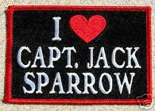Pirates Of The Carribean Patch - I Love Jack Sparrow