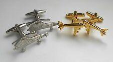 Flugzeuge Helikopter Manschettenknöpfe 2 Paare minimale Fehler 2. Wahl 9T FL
