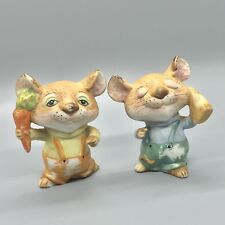 Vintage Homco Country Mice Ceramic Figurines