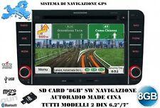 PER NAVIGATORE AUTORADIO CINESE TUTTI MODELLI 2DIN 8GB MAPPA 05/2017+VELOX 06/17