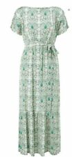 MONSOON Fliss green tapestry floral cold shoulder maxi summer dress size 8