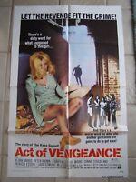 Vintage Movie Poster 1 sheet Act of Vengeance 1974 Jo Ann Harris, Peter Brown
