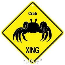 Crab Crossing Xing Sign New