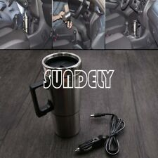 2 in 1 12v Car Auto Adapter Heated Travel Mug Thermos Heating Cup Kettle